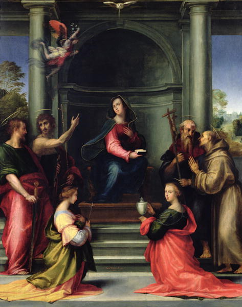 Fra Bartolomeo - The Annunciation with Saints 1515