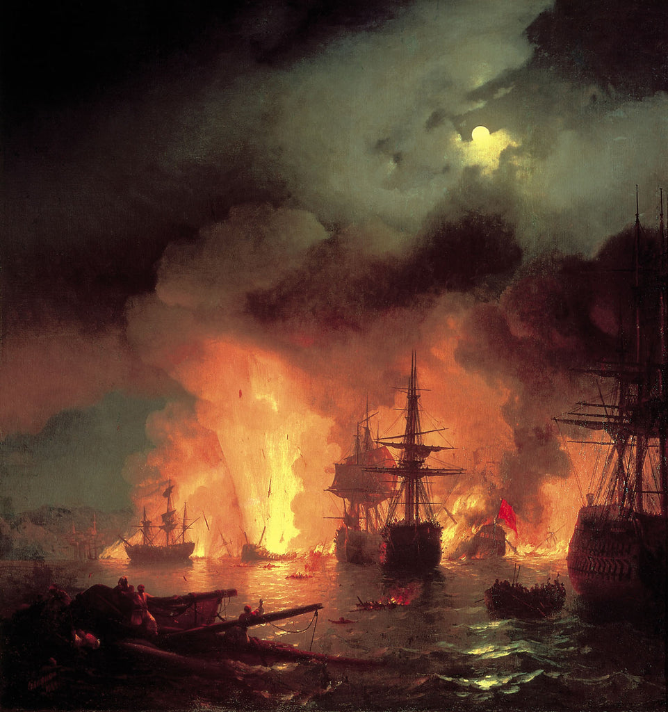 Ivan Aivazovsky - The Battle of Chesme