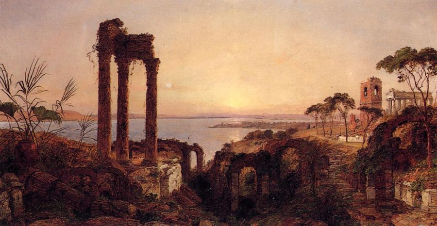 Jasper Francis Cropsey - The Bay of Naples