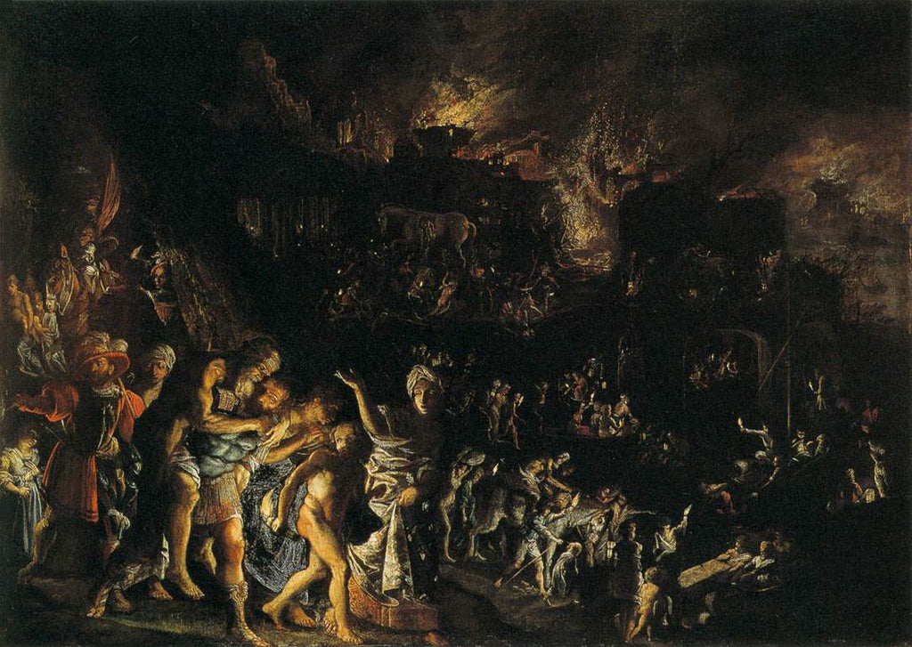 Adam Elsheimer - The Burning of Troy
