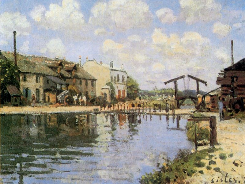 Alfred Sisley - The Canal Saint-Martin