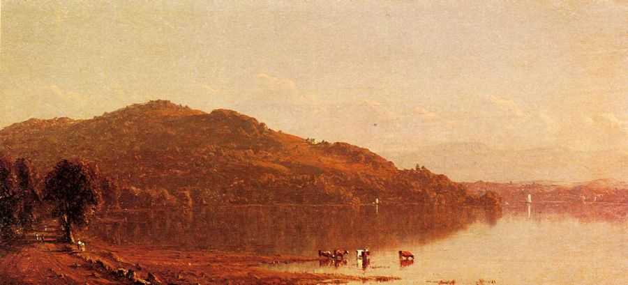 Sanford Robinson Gifford - The Catskills from Hudson, N.Y.