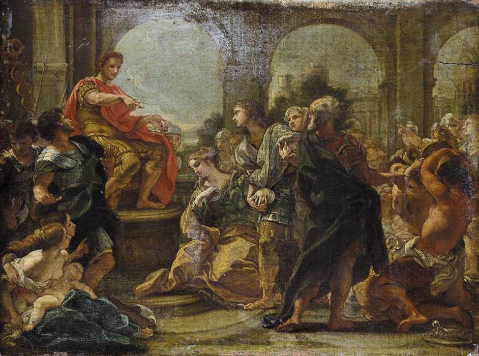 Battista Gaulli - Baciccio Giovanni - The Continence of Scipio