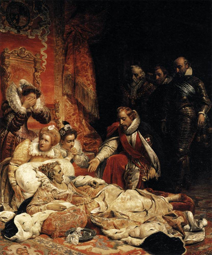Paul Delaroche - The Death of Elizabeth I, Queen of England