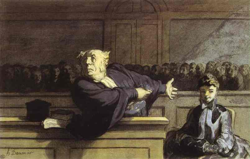 Honore Daumier - The Defender