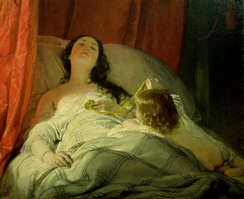 Friedrich von Amerling - The Drowsy One
