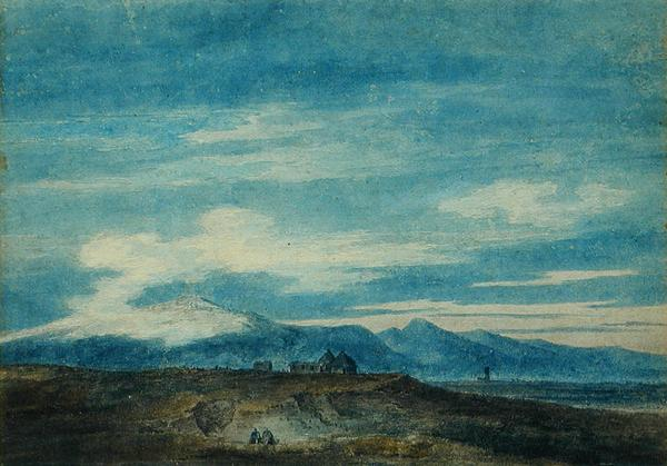 John Robert Cozens - The Euganean Hill from Padua