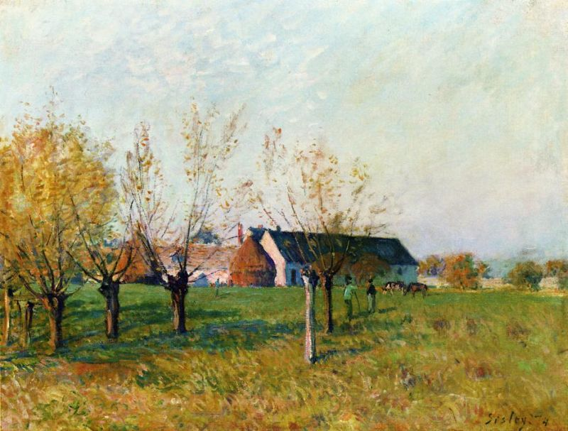 Alfred Sisley - The Farm at Trou d'Enfer, Autumn Morning