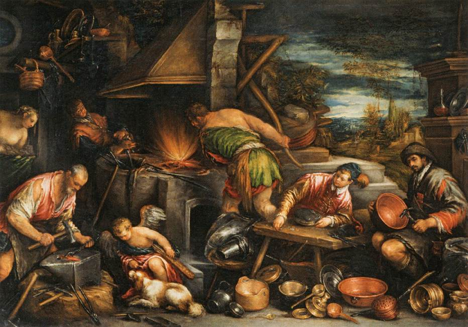 Francesco Bassano - The Forge of Vulcan
