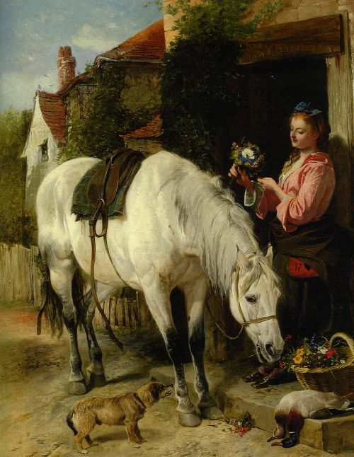 Richard Ansdell - The Gardeners Daughter
