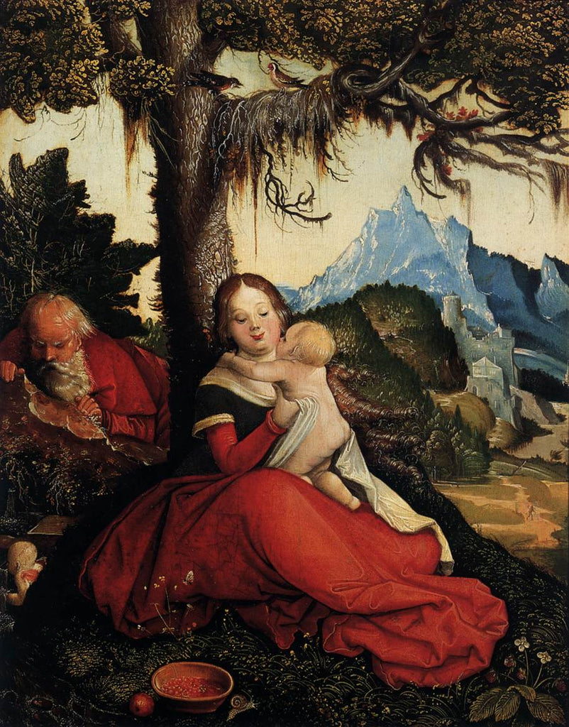 Grien Hans Baldung - The Holy Family in the Open