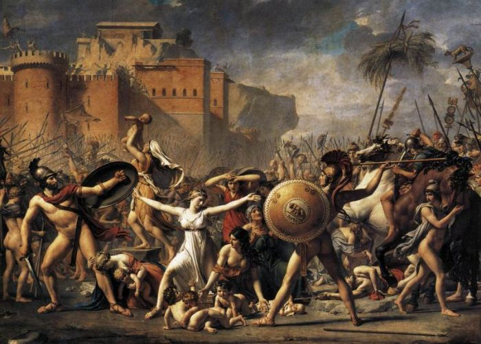 Jacques-Louis David - The Intervention of the Sabine Women