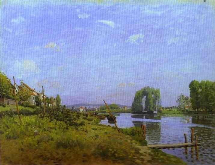 Alfred Sisley - The Island of Saint-Denis