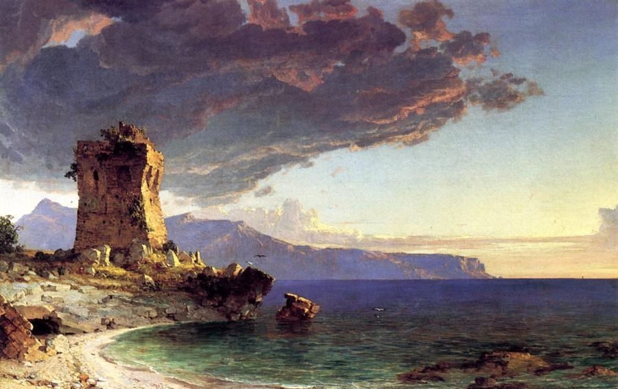 Jasper Francis Cropsey - The Isle of Capri