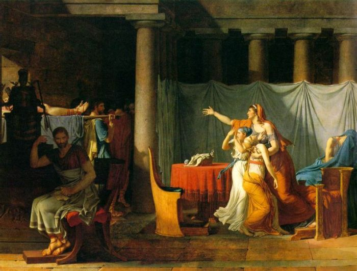 Jacques-Louis David - The Lictors Bring to Brutus the Bodies of His Sons