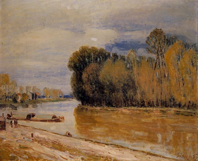 Alfred Sisley - The Loing Canal IV