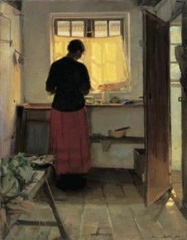 Anna Ancher - The Maid in the Kitchen