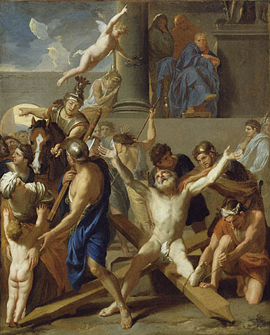 Brun Charles Le - The Martyrdom of Saint Andrew