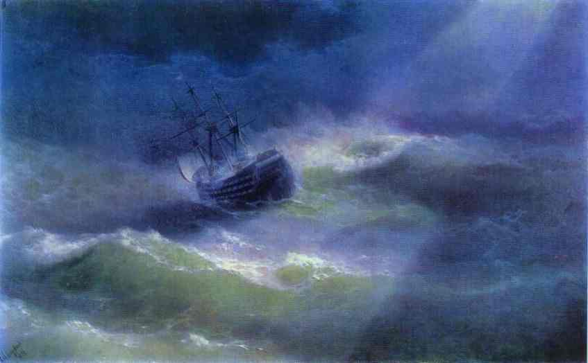 Ivan Aivazovsky - The Mary Caught In A Storm