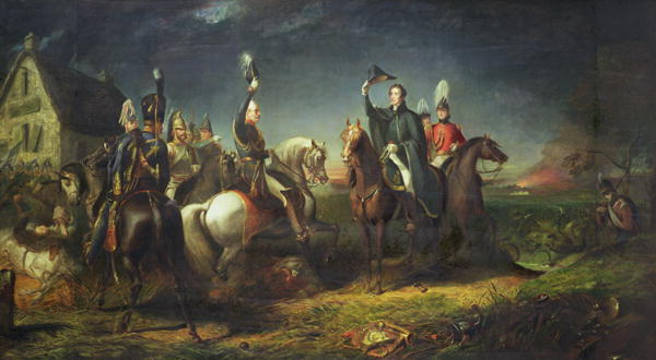 Thomas Jones Barker - The Meeting of the Duke of Wellington and Field Marshal Blucher