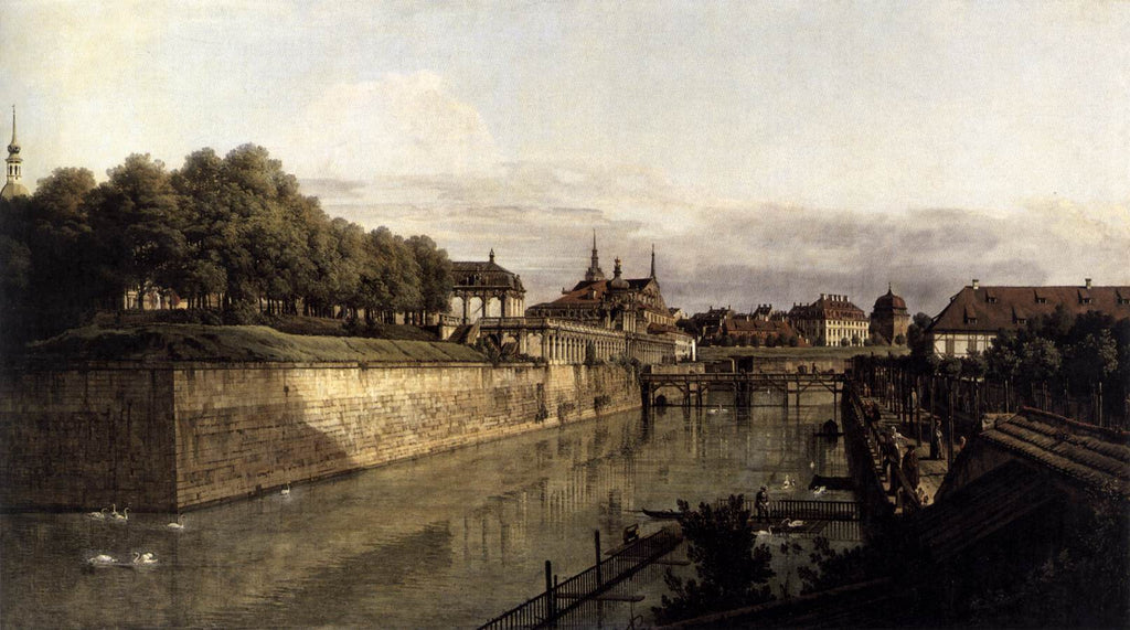 Bernardo Bellotto - The Moat of the Zwinger in Dresden