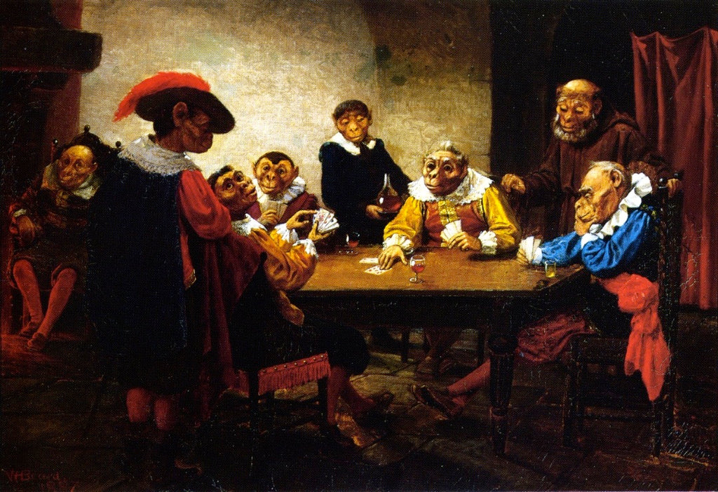 William Holbrook Beard - The Poker Game