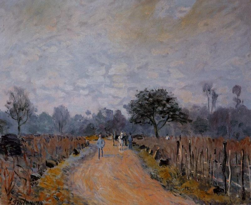 Alfred Sisley - The Road from Prunay to Bougival