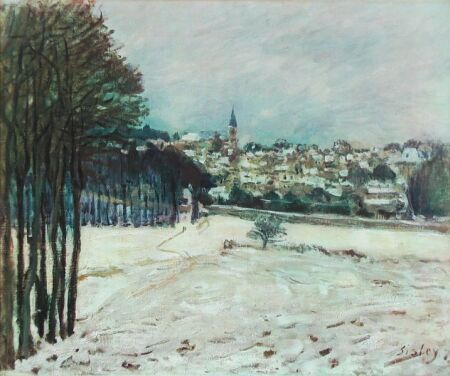 Alfred Sisley - The Snow at Marly-Le-Roi