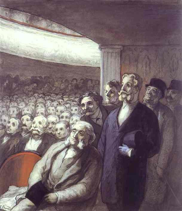 Honore Daumier - The Spectators
