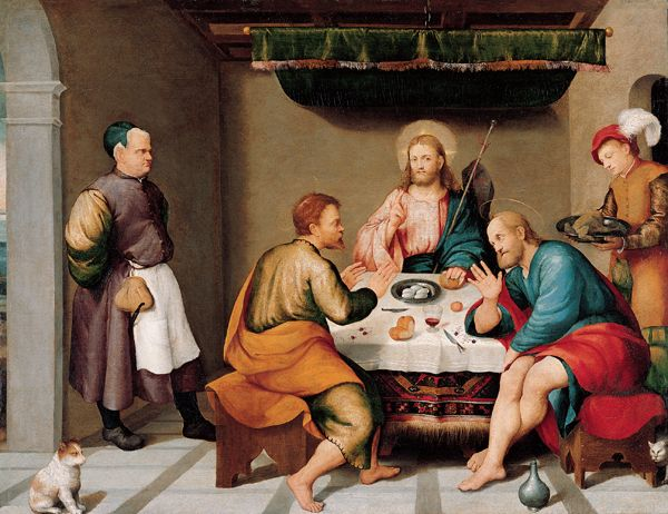 Jacopo Bassano - The Supper at Emmaus