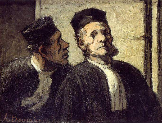 Honore Daumier - The Two Lawyers