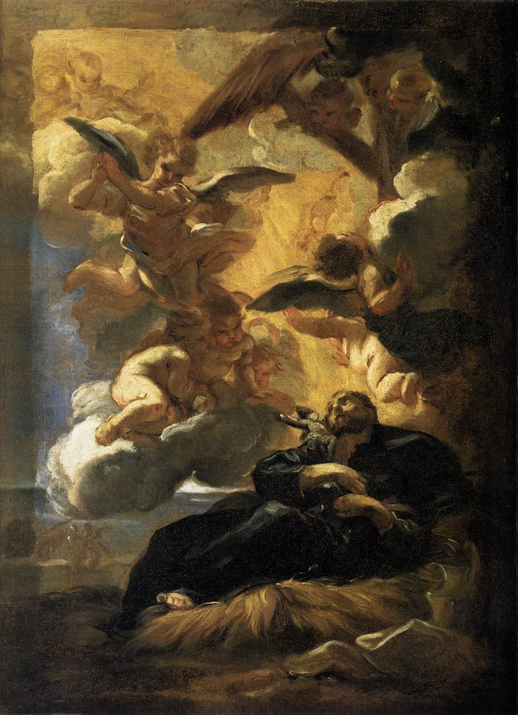 Battista Gaulli - Baciccio Giovanni - The Vision of St Francis Xavier