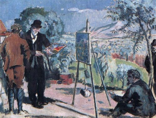 Maurice Denis - The Visit to Cezanne