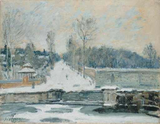 Alfred Sisley - The Watering Place at Marly-Le-Roi