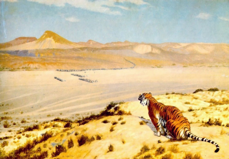 Jean-Leon Gerome - Tiger on the Watch