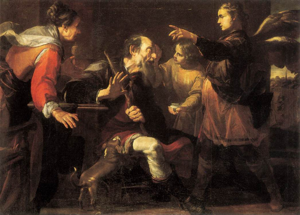 Giochino Assereto - Tobias Healing the Blindness of His Father