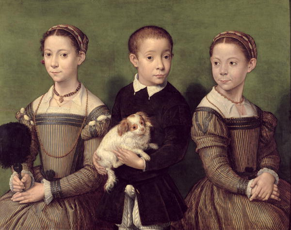 Sofonisba Anguissola - Two Sisters and a Brother of the Artist