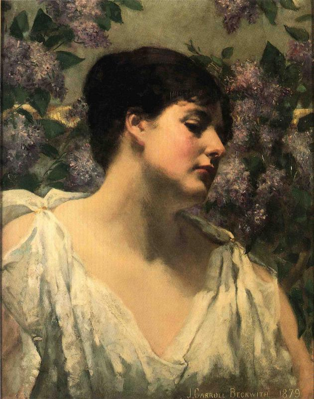 Carroll Beckwith - Under the Lilacs