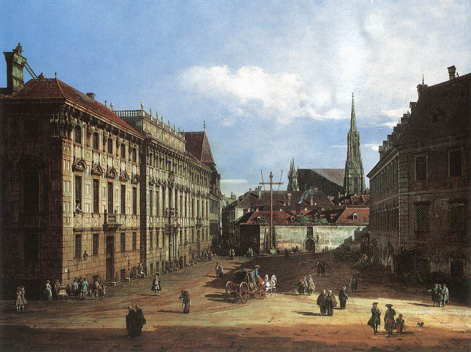 Bernardo Bellotto - Vienna, the Lobkowitzplatz