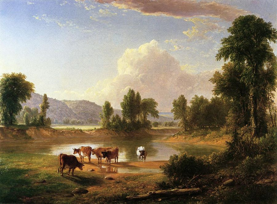 Asher B Durand - View of Esopus Creek, Ulster County, New York