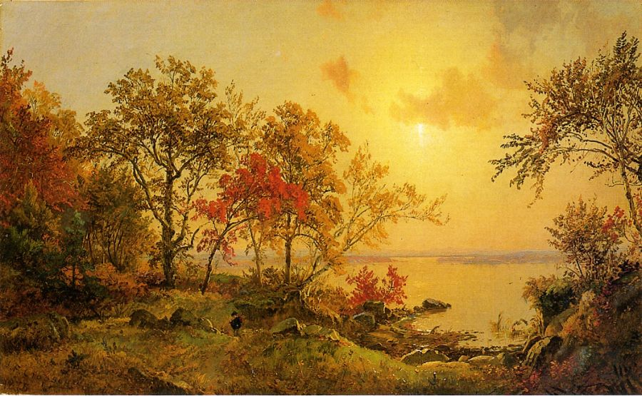 Jasper Francis Cropsey - Autumn Landscape - View of Greenwood Lake