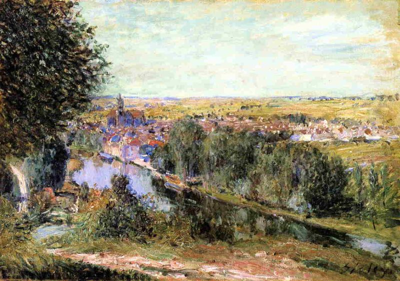 Alfred Sisley - View of Moret