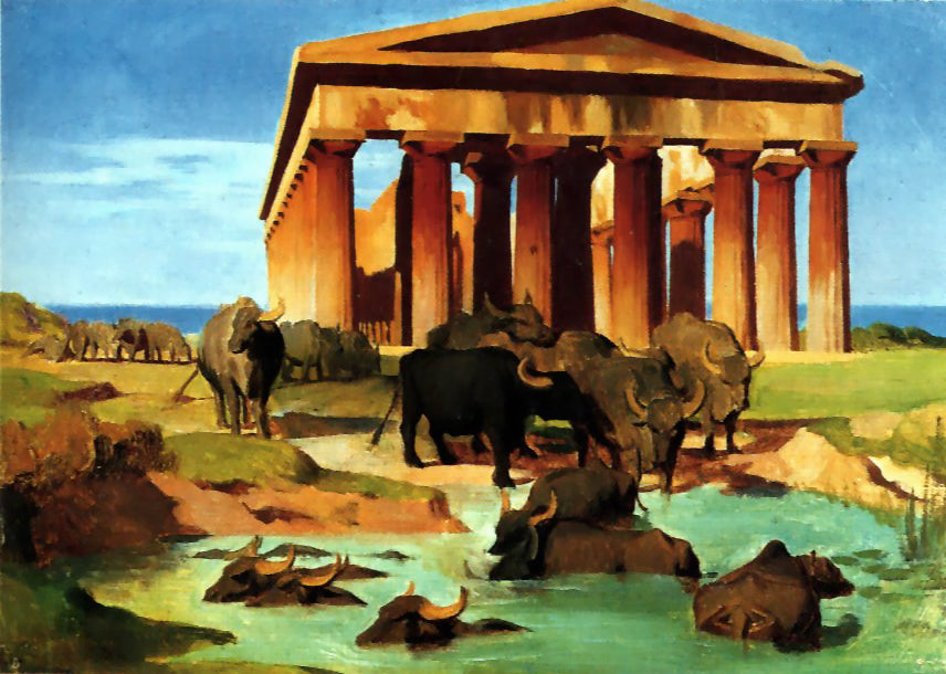 Jean-Leon Gerome - View of Paestum