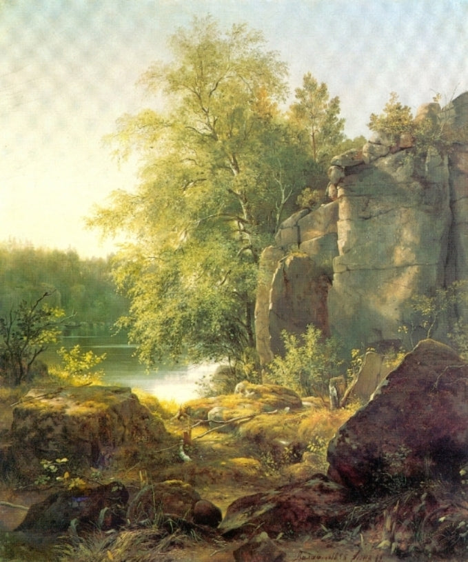 Ivan Shishkin - View on the Island of Valaam