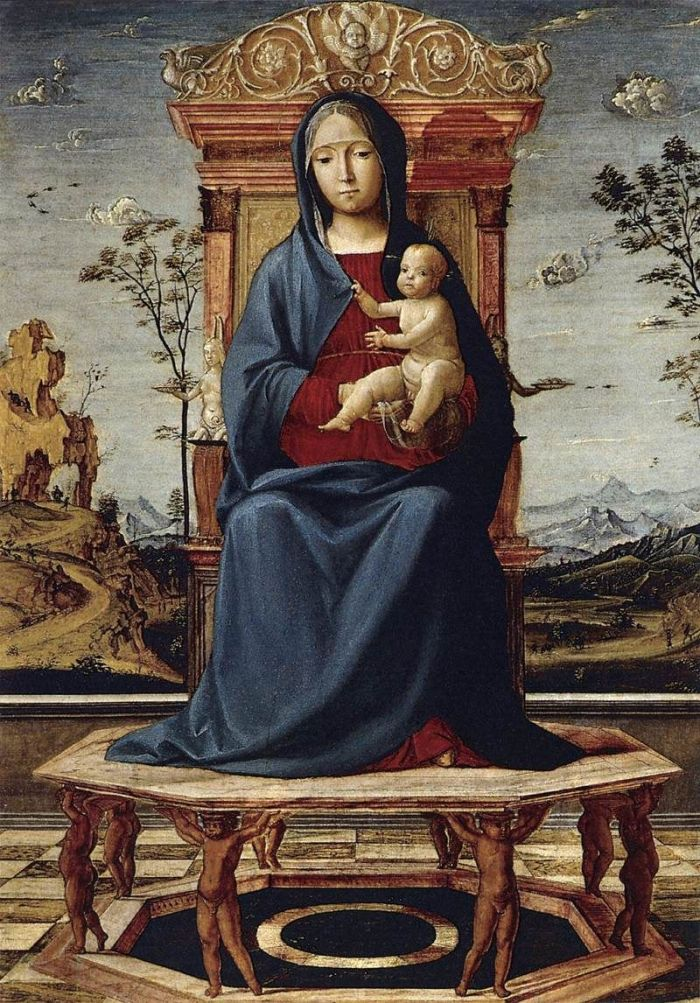 Lorenzo Costa - Virgin and Child Enthroned