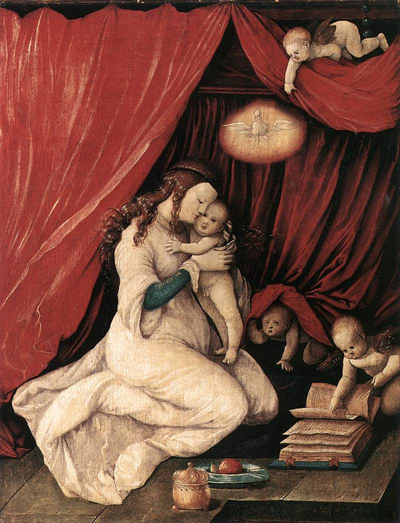 Grien Hans Baldung - Virgin and Child in a Room