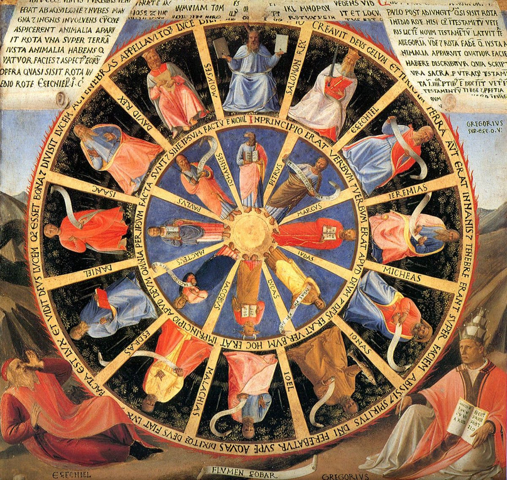 Fra Angelico - Vision of Ezekiel of the Mystic Wheel