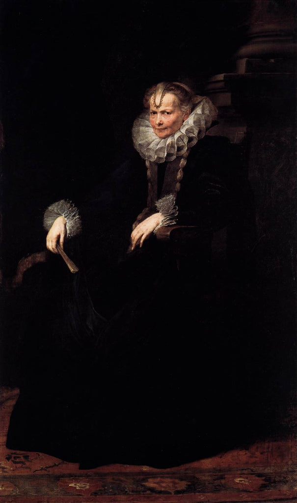Sir Anthony van Dyck - Wife of an Aristocratic Genoese