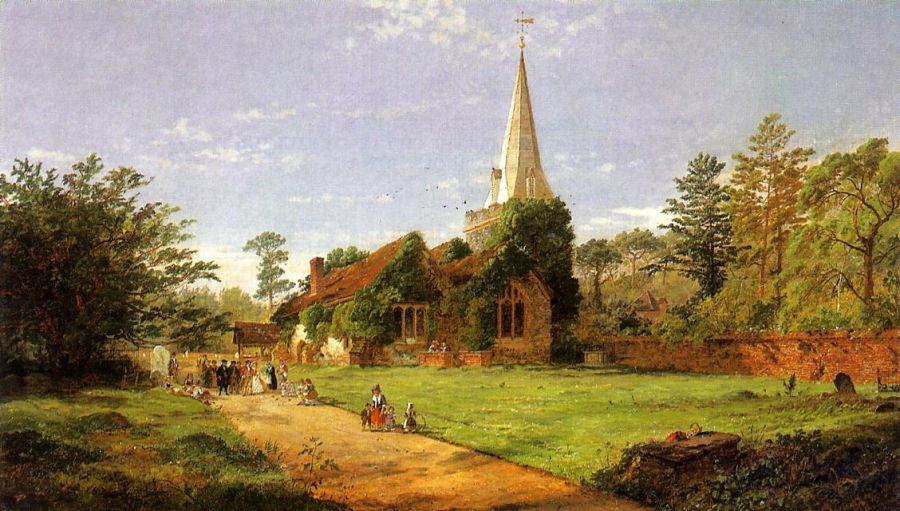 Jasper Francis Cropsey - William Penn's Wedding