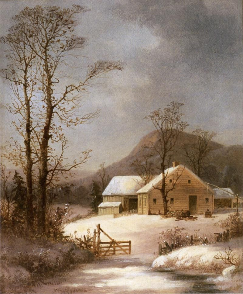 George Henry Durrie - Winter Farmyard